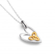 Celtic Heart With Trinity Knot Necklace