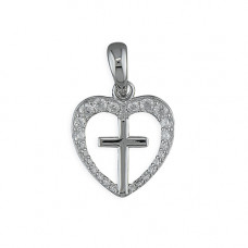 Heart and Cross Necklace - Plain Cross