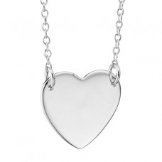 Hanging Heart Silver Necklace