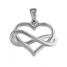 Infinity Heart Silver Necklace