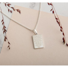 Lord's Prayer and Cross Tablet Necklace