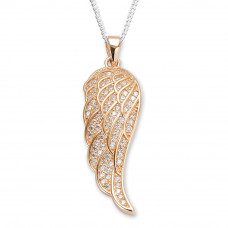 Rose Gold Plated Angel Wing Pendant