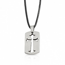 Stainless Steel Cut Out Cross Pendant