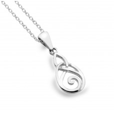 Celtic Trinity Knot With Spiral Necklace
