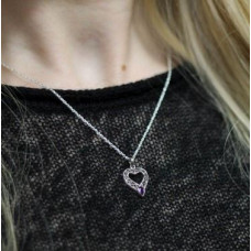 Celtic Heart with Purple Stone Necklace