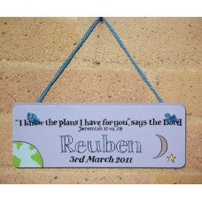 Personalised Plaque with verse