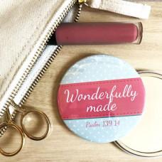 Pocket Mirror Wonderfully Made