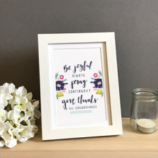 "Be Joyful Always Framed Print 7"" x 5"""
