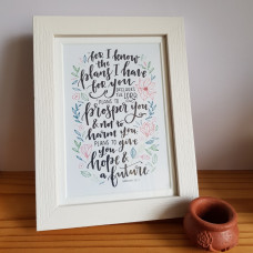 For I Know The Plans Framed Print