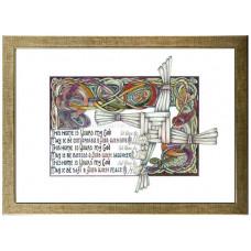 Home Blessing Lindisfarne Scriptorium A4 Framed Print