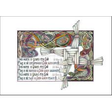 Lindisfarne Scriptorium Home Blessing A4 Print Unframed