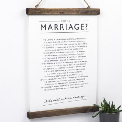 Marriage Print A3