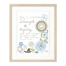 Strength and Dignity Framed Print