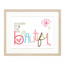 God Made You And You Are Beautiful A5 Framed Print