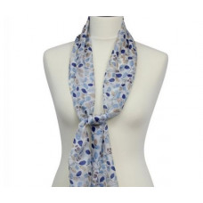 Scarf with Scripture Silk Amelia Light Blue/Grey