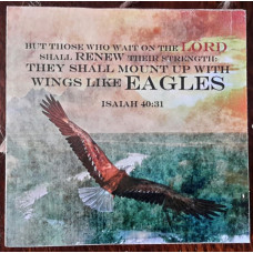Wings Like Eagles Square Mini Plaque