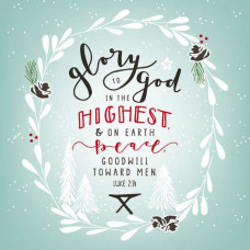 Christmas Cards 10 Pack Glory To God Mixed
