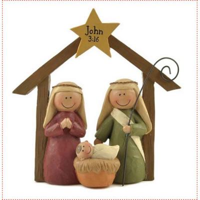 Nativity Family Ornament John 3:16