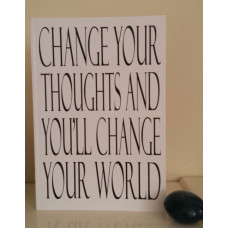 Change Your Thoughts Notebook