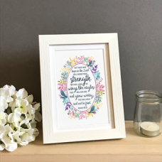 Those Who Hope Floral Print Framed