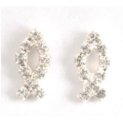Diamante Fish Earrings