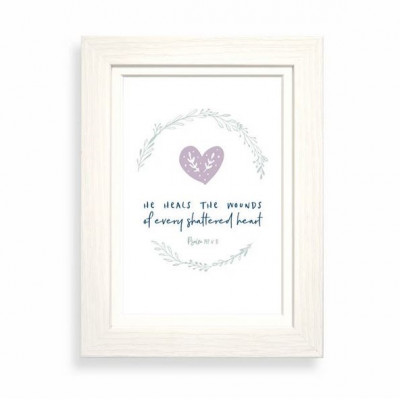 He Heals The Wounds Of Every Shattered Heart Calm Range Framed Print