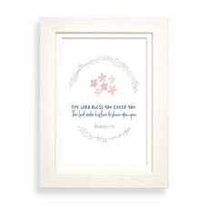 The Lord Bless You Calm Range Framed Print