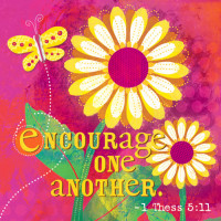 Canvas Magnet Encourage One Another