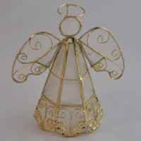 Capiz Angel With Gold Frame