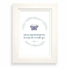 Cast All Your Anxiety Calm Framed Print