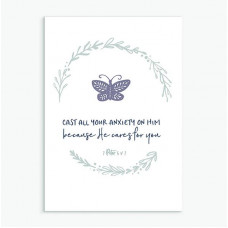 Cast All Your Anxiety Calm Range Greetings Card