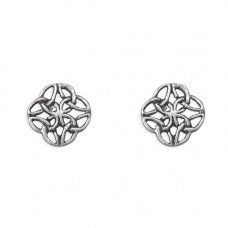 Celtic Rose Knot Stud Earrings
