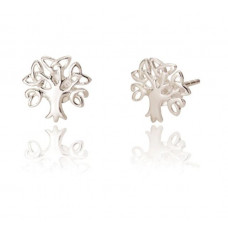 Celtic Tree Of Life Silver Stud Earrings