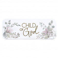 Child Of God Floral Metal Plaque