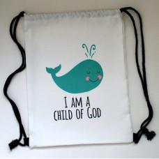 Whale Child Of God Drawstring Kit Bag