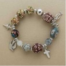 Christ's Story Clay Bead Stretch Bracelet