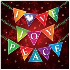 Christmas Cards 10 Love Joy Peace