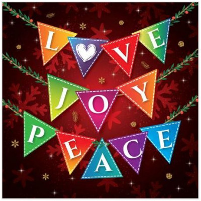 Christmas Cards 10 Love Joy Peace
