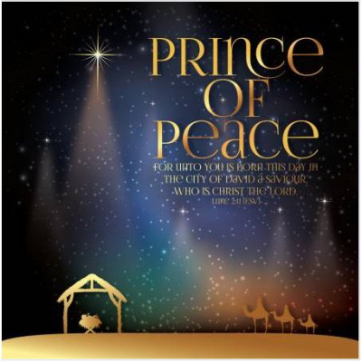 Christmas Cards 10 Pack Prince Of Peace Luxury
