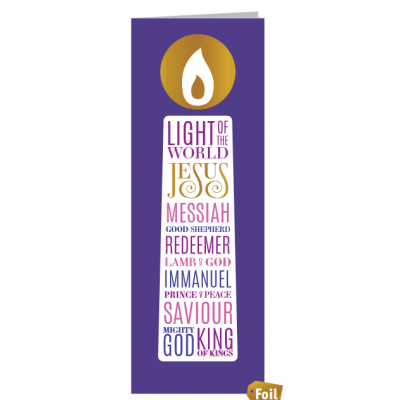 Christmas Cards 10 Pack Names Of Jesus Candle