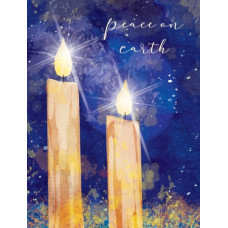 Christmas Cards 10 Pack Peace Candles