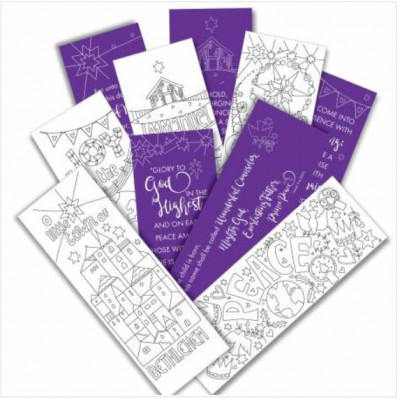 10 Christmas Bookmarks To Colour