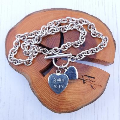 Heavy Silver Toggle Chain John 10:10