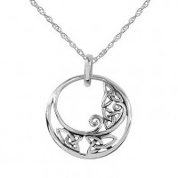 Round Celtic Pendant With Knotwork