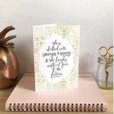 Clothed With Strength And Dignity Gold A6 Card