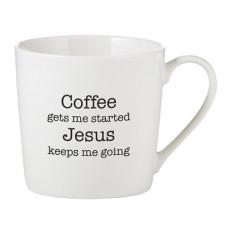 Coffee Get Me Started Jesus Keeps Me Going Mug