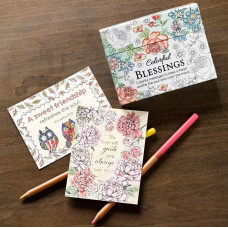 Colourful Blessings Colouring Cards