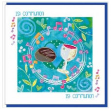 First Communion Bread & Wine Greetings Card