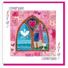 Confirmation Card - Pink Church Window
