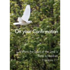 Confirmation Dove In Flight Card